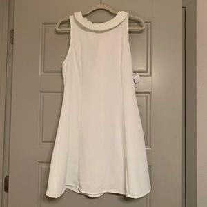 White Impeccable Pig Bow Dress